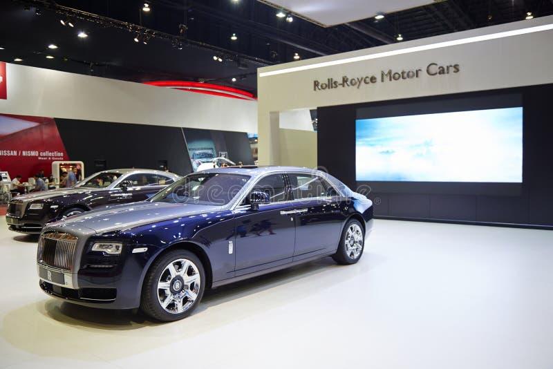 Carro de Rolls royce na exposição 36 no th Banguecoque Mo internacional fotos de stock royalty free