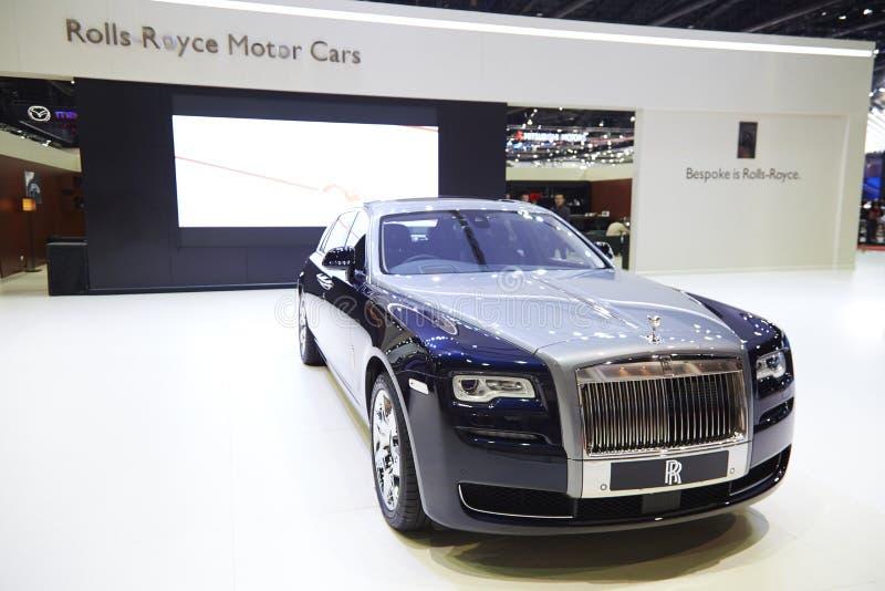 Carro de Rolls royce na exposição 36 no th Banguecoque Mo internacional imagens de stock royalty free