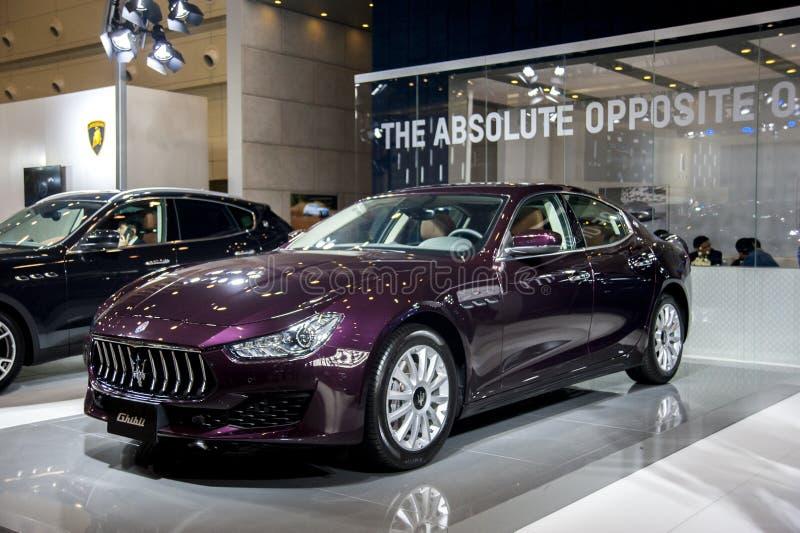 Carro de Rosy Maserati foto de stock royalty free