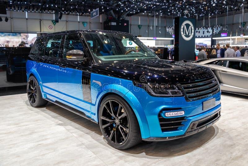 Carro de Rover Range Rover da terra de Mansory imagem de stock