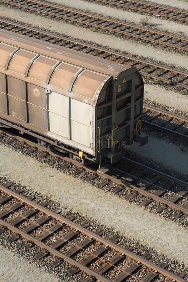 Carro de trem da carga imagens de stock
