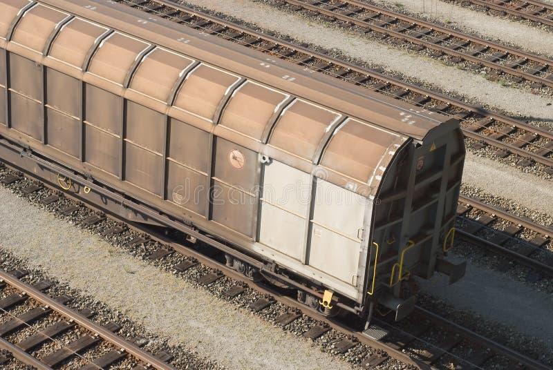 Carro de trem da carga imagens de stock royalty free