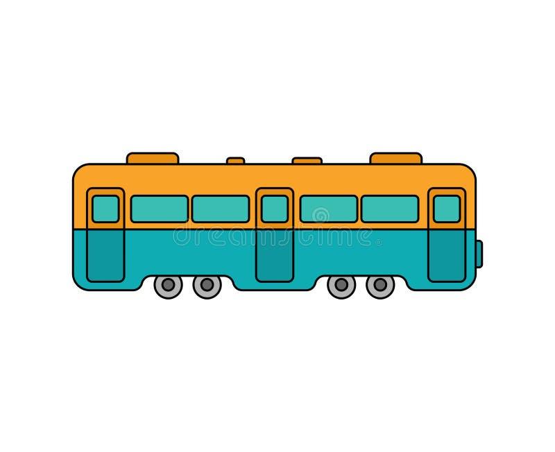 Carro de trem isolado ilustração do vetor da estrada de ferro do transporte ilustração do vetor