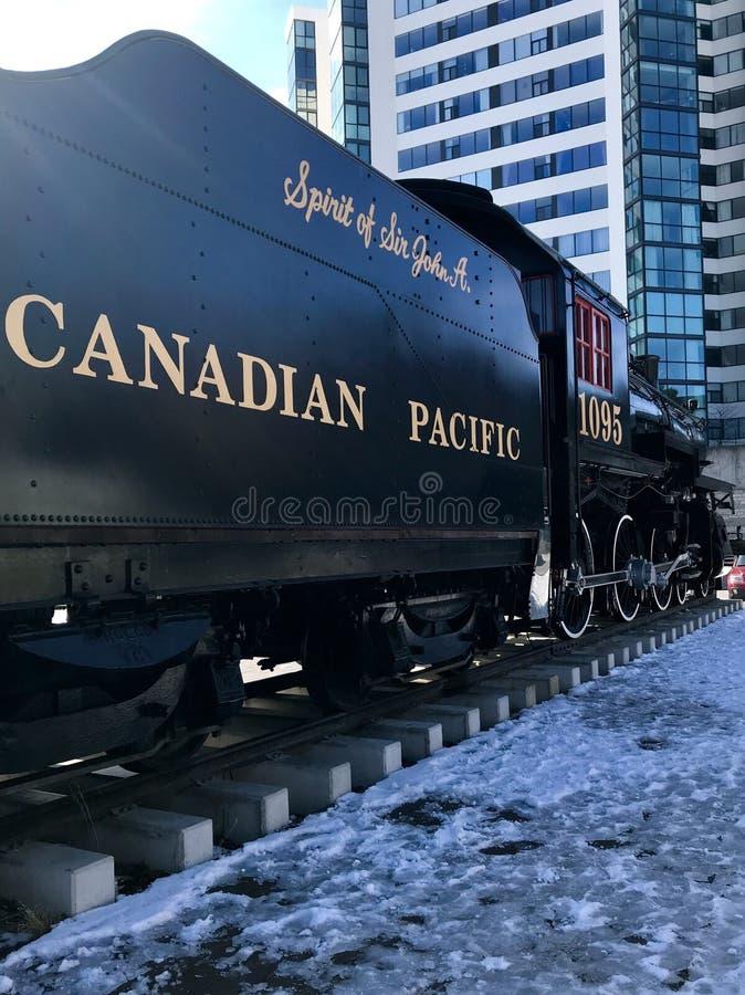 Carro de trilho canadense imagens de stock