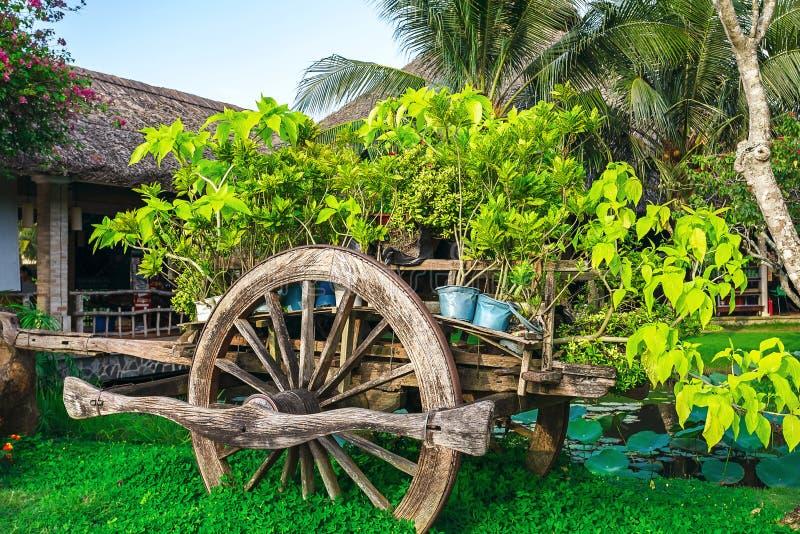 Carro, decoração, jardim, parque fotografia de stock
