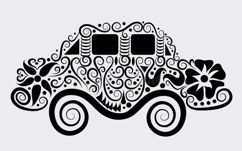 Carro decorativo ilustração royalty free