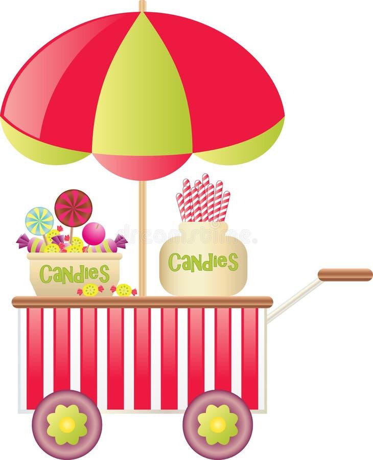 Carro del caramelo ilustración del vector