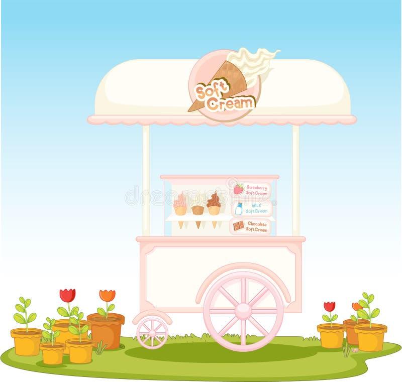 Carro del helado libre illustration