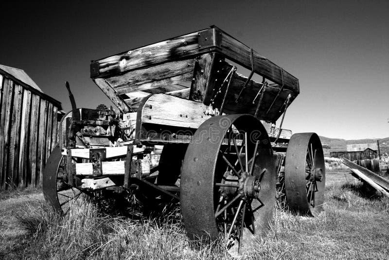 Carro del mineral del oro, pueblo fantasma de Bodie fotos de archivo libres de regalías