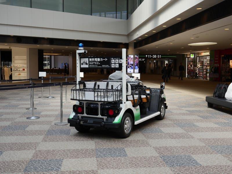 Carro del pasajero del aeropuerto Terminal1 de Narita imagen de archivo libre de regalías