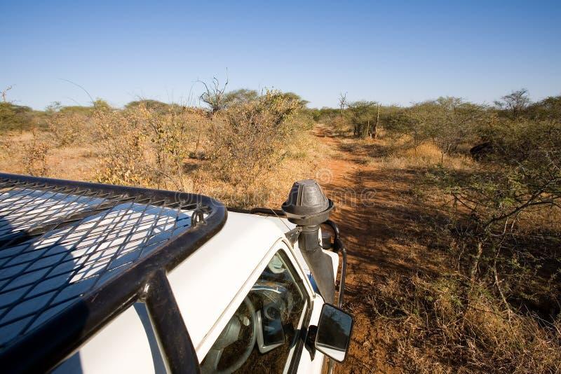 Carro del safari imágenes de archivo libres de regalías