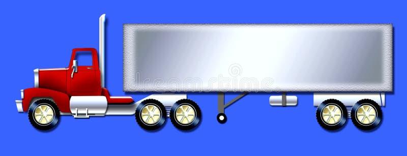 Carro del semi-remolque ilustración del vector