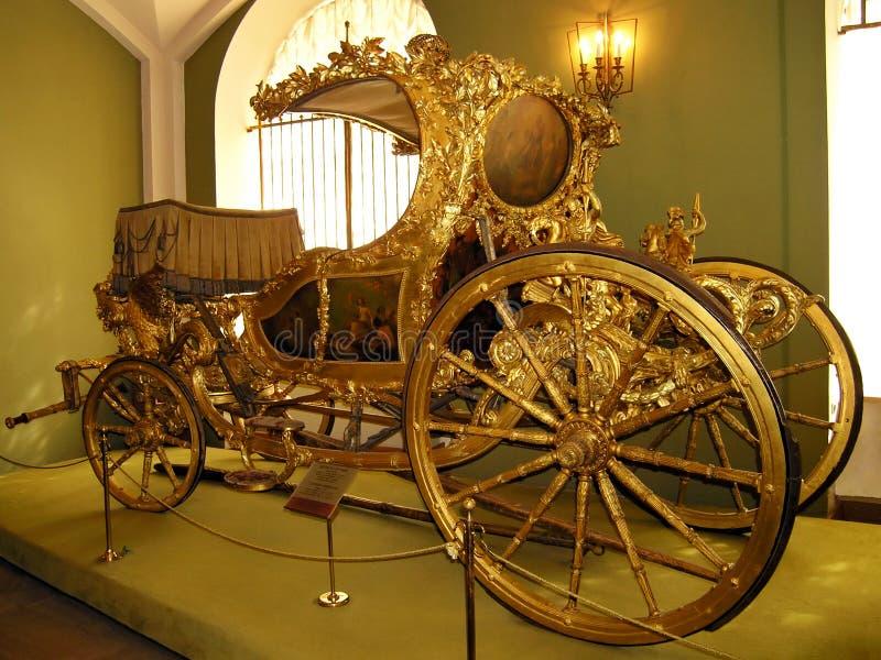 Carro del verano - 1770s de Inglaterra - cámara del arsenal de Kr de Moscú imagen de archivo libre de regalías