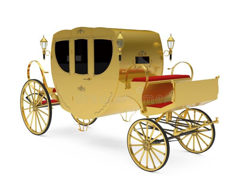 Carro del vintage aislado ilustración del vector
