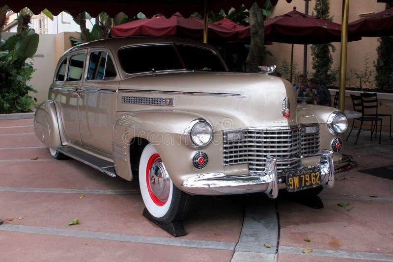 Carro dentro dos estúdios de Hollywood, Orlando do vintage, FL fotografia de stock