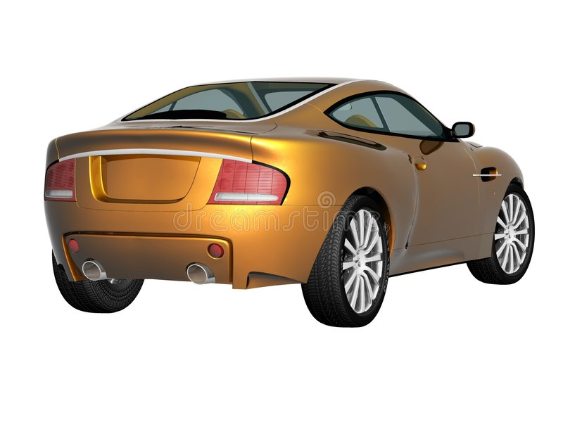 carro desportivo 3d ilustração stock