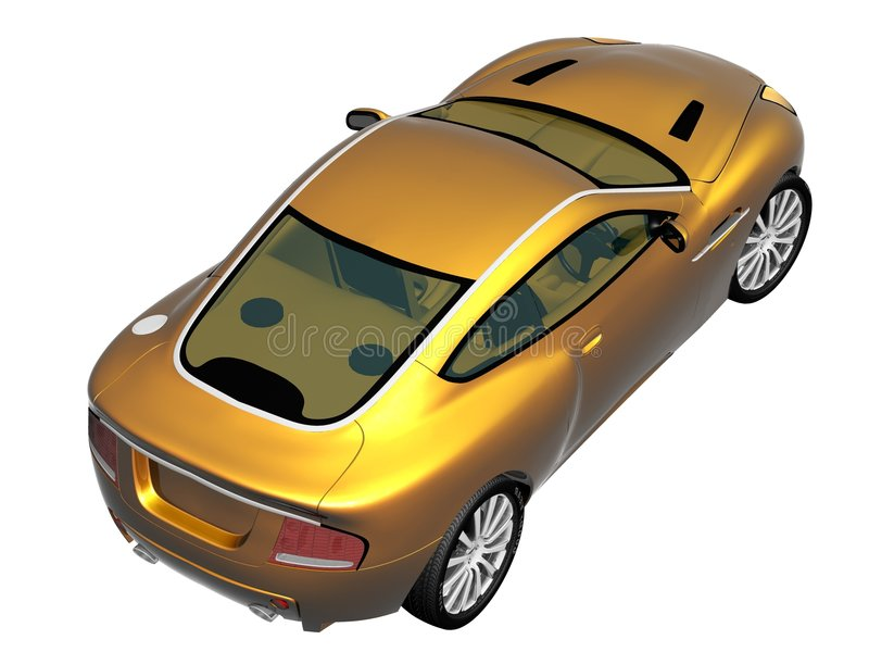 carro desportivo 3d ilustração royalty free