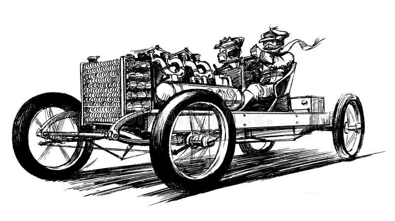 Carro desportivo antigo ilustração stock