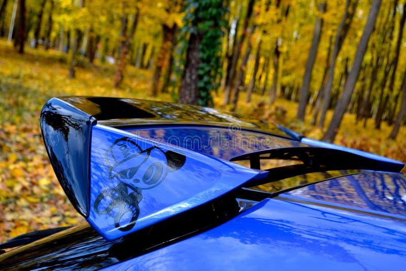 Carro desportivo do carro de corrida da WTI de Subaru Impreza WRX imagens de stock