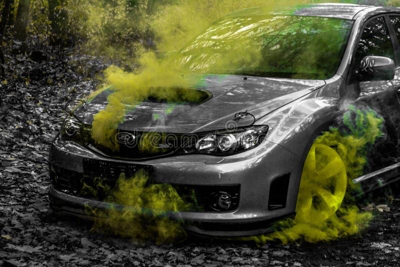 Carro desportivo do carro de corrida da WTI de Subaru Impreza WRX fotos de stock