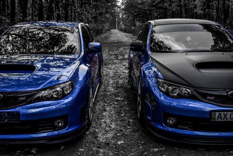 Carro desportivo do carro de corrida da WTI de Subaru Impreza WRX foto de stock