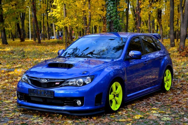 Carro desportivo do carro de corrida da WTI de Subaru Impreza WRX foto de stock royalty free