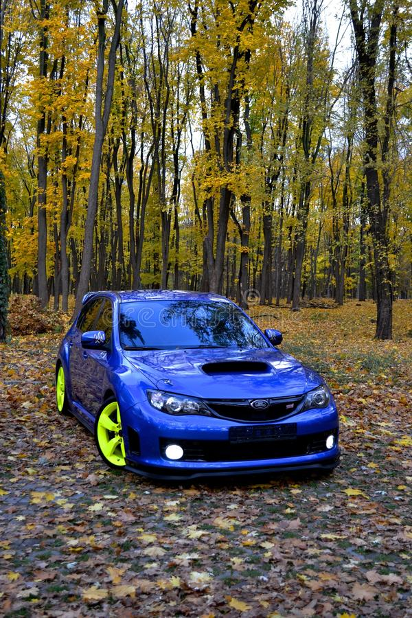 Carro desportivo do carro de corrida da WTI de Subaru Impreza WRX fotos de stock royalty free