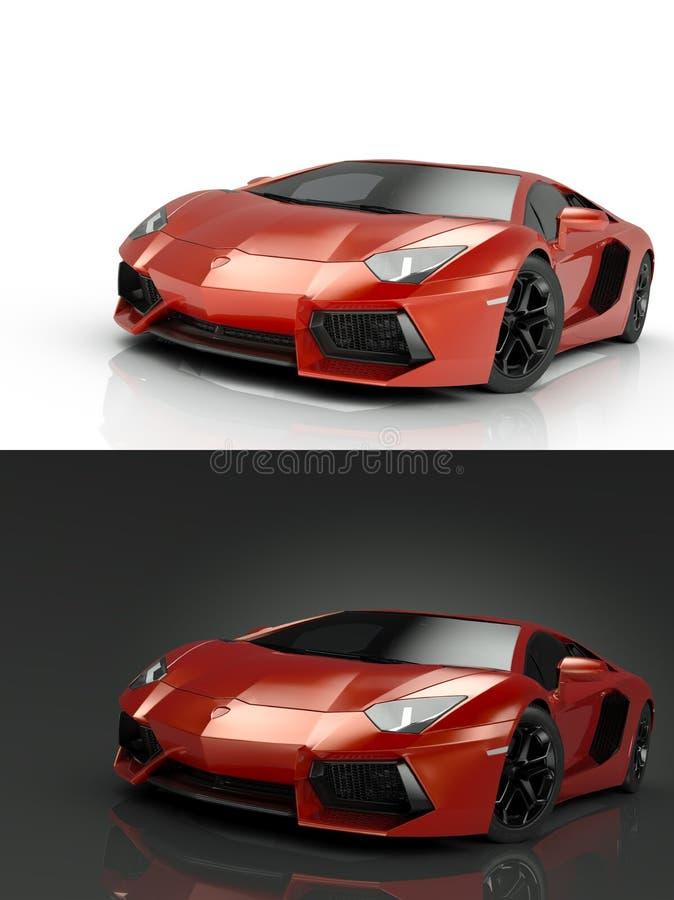Carro desportivo luxuoso ilustração royalty free