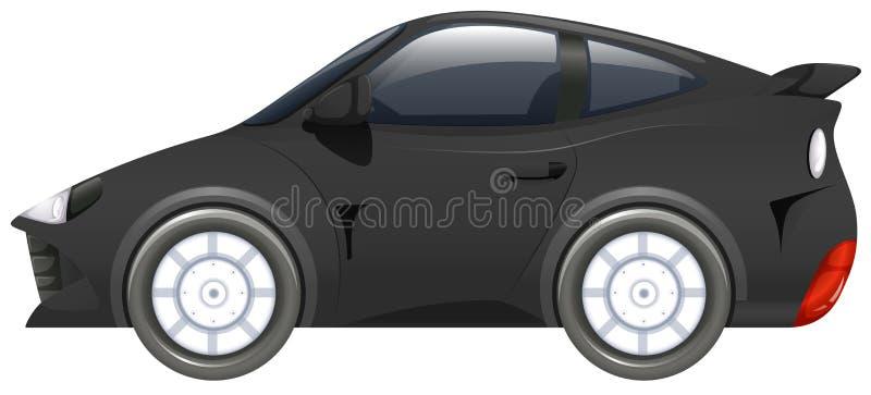 Carro desportivo na cor preta ilustração royalty free