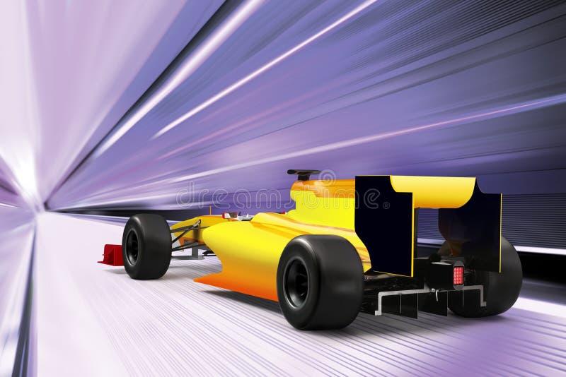 Carro desportivo na estrada de alta velocidade ilustração stock