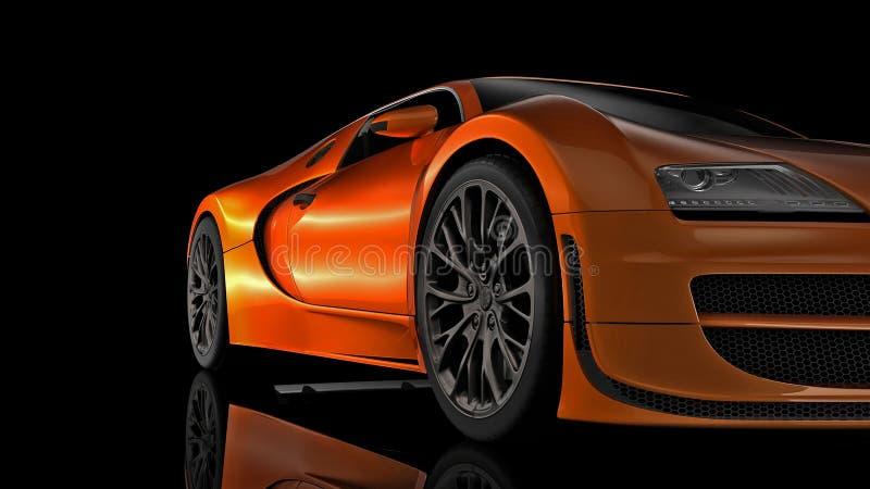 Carro desportivo super na perspectiva ilustração stock