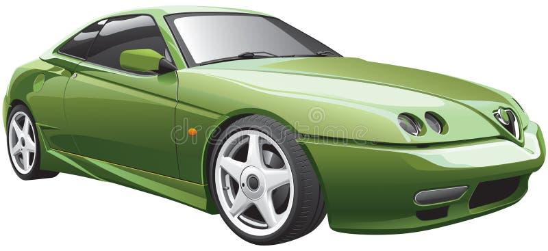 Carro desportivo verde ilustração royalty free