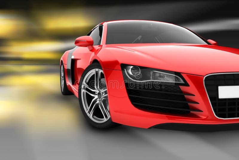 Carro desportivo vermelho fotos de stock royalty free