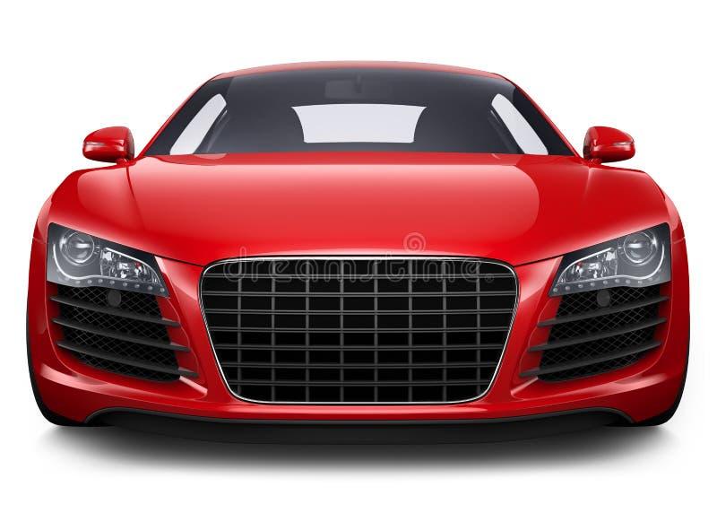 Carro desportivo vermelho ilustração stock