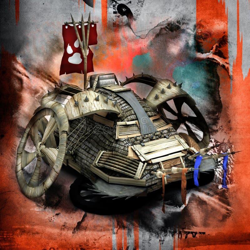 Carro do apocalipse ilustração royalty free
