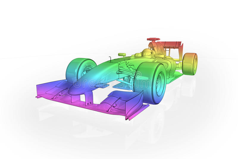 Carro do arco-íris F1 ilustração stock