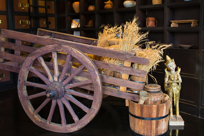 Carro do arroz fotografia de stock royalty free