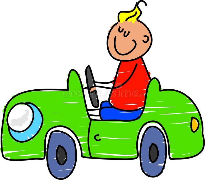 Carro do brinquedo ilustração stock