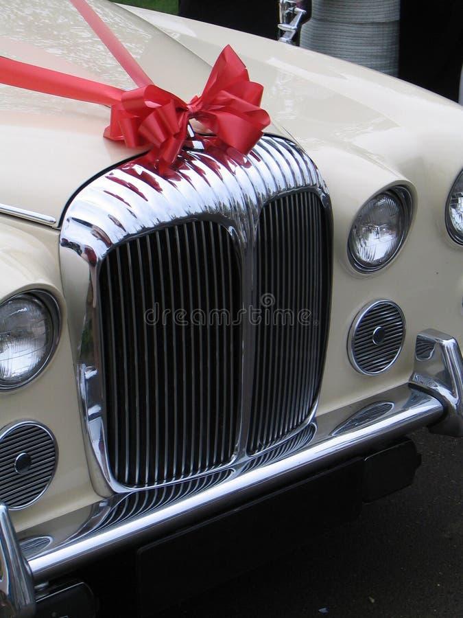 Carro do casamento fotografia de stock royalty free