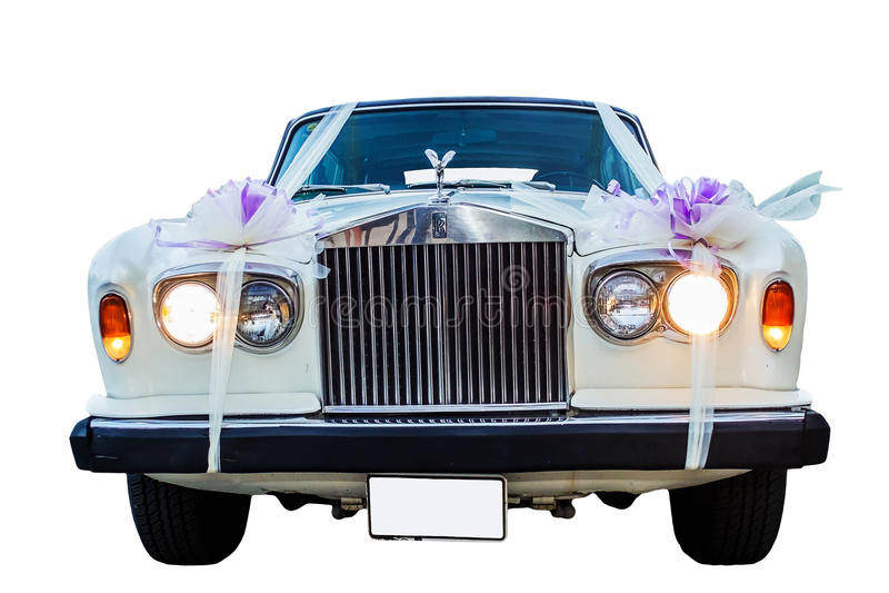 Carro do casamento de Rolls Royce do vintage imagem de stock royalty free