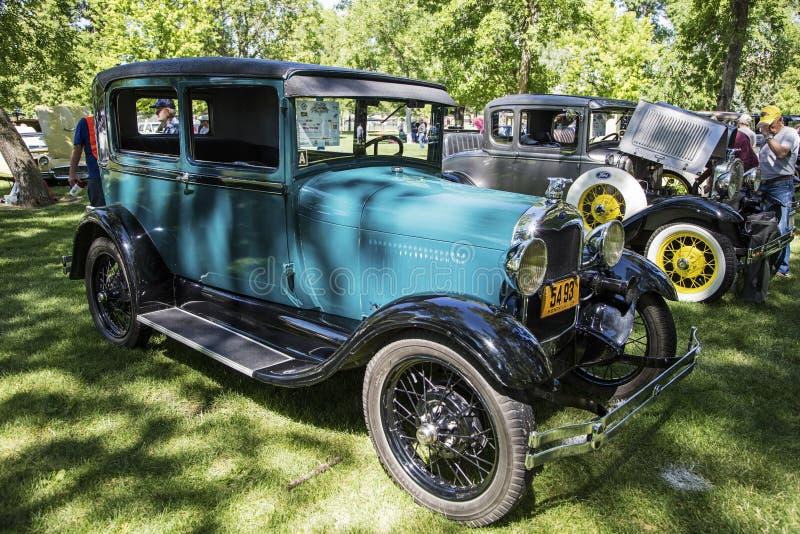 Carro do clássico do tudor do modelo A de Ford 1929 imagem de stock