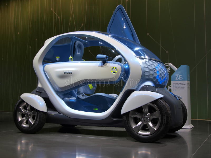 Carro do conceito de Renault Twizy foto de stock royalty free