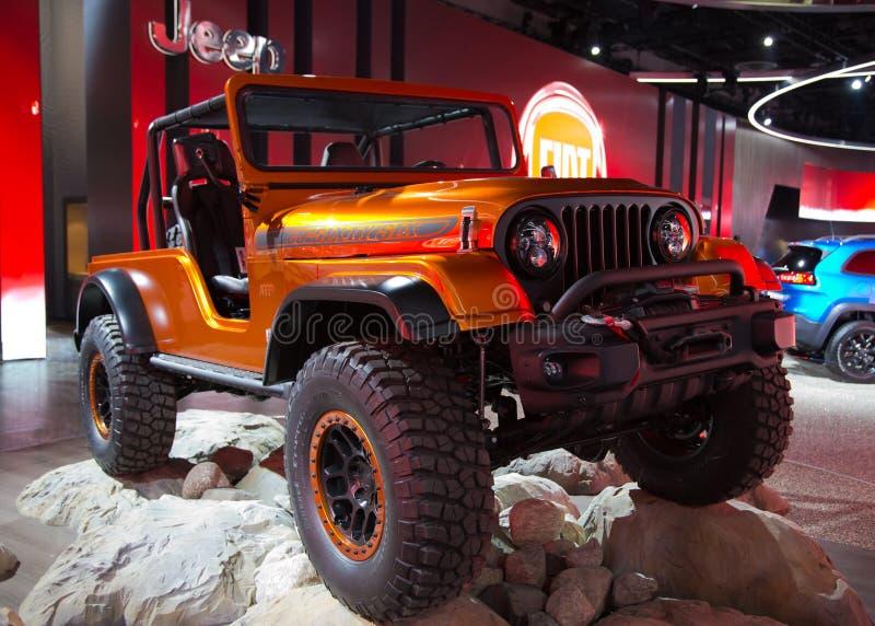 Carro do conceito do jipe CJ66 fotografia de stock