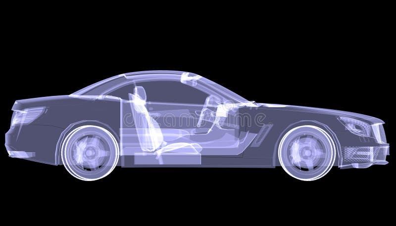 Carro do conceito do raio X imagens de stock