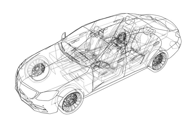 Carro do conceito Vetor ilustração do vetor