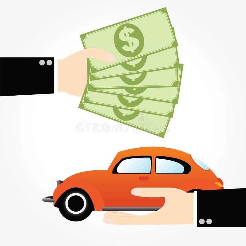Carro do dinheiro da economia ilustração royalty free