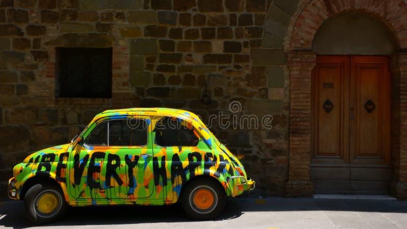 Carro do hippy em Montalcino no.1 fotos de stock royalty free