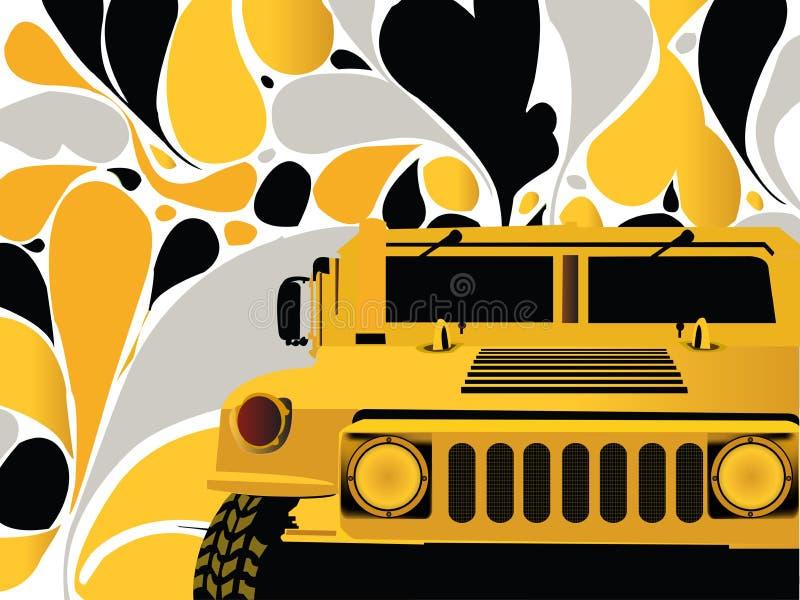 Carro do Hummer ilustração stock