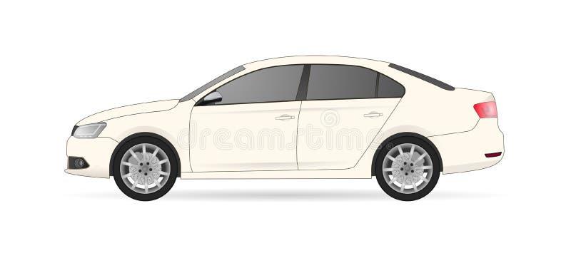 Carro do lado ilustração do vetor