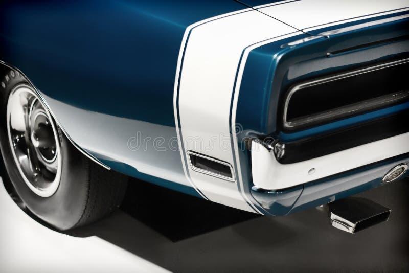 Carro do luxo do vintage Lanterna traseira e peça do amortecedor foto de stock royalty free